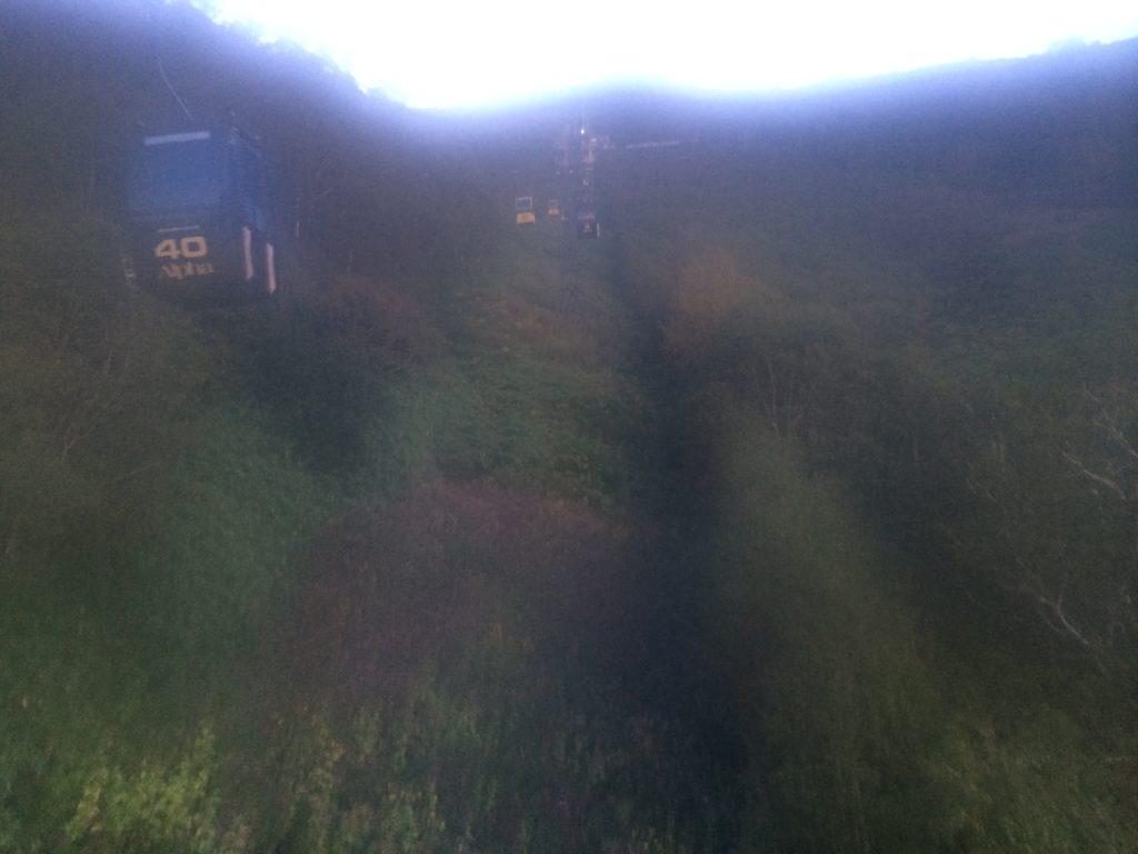 星野リゾート トマム雲海テラスへと向かうゴンドラ