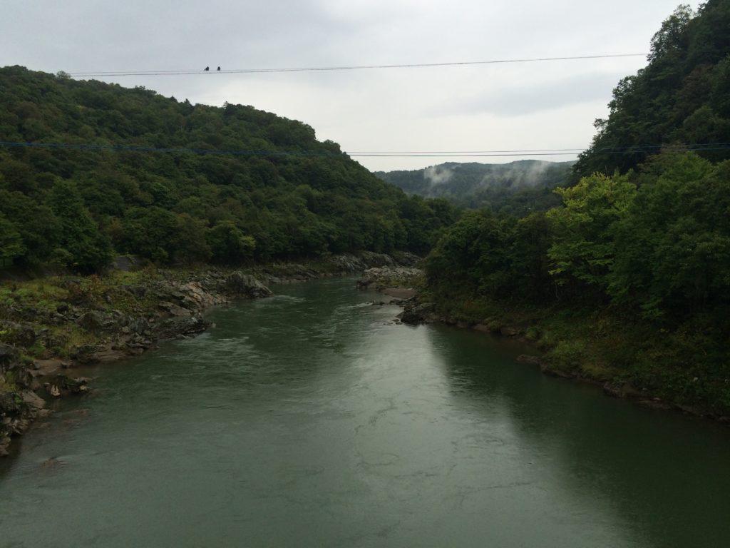 神居大橋(神居古潭)からの眺め