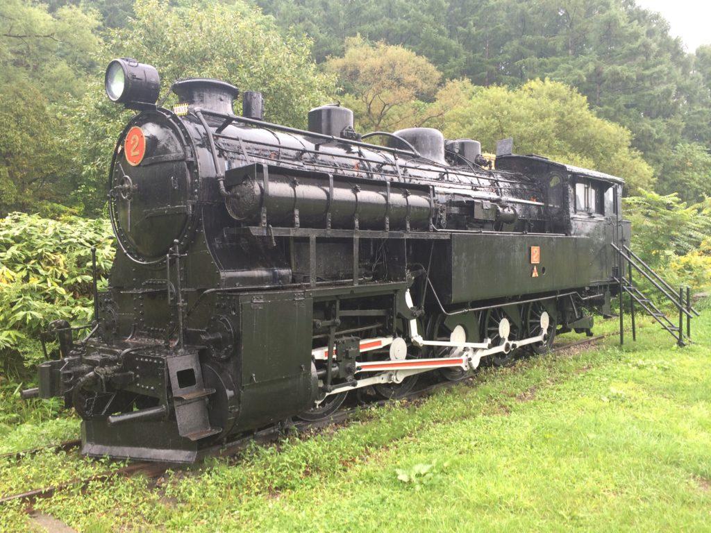 東明駅の蒸気機関車