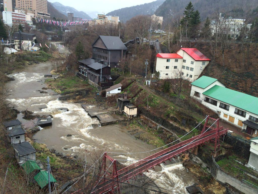 定山渓温泉の高山橋
