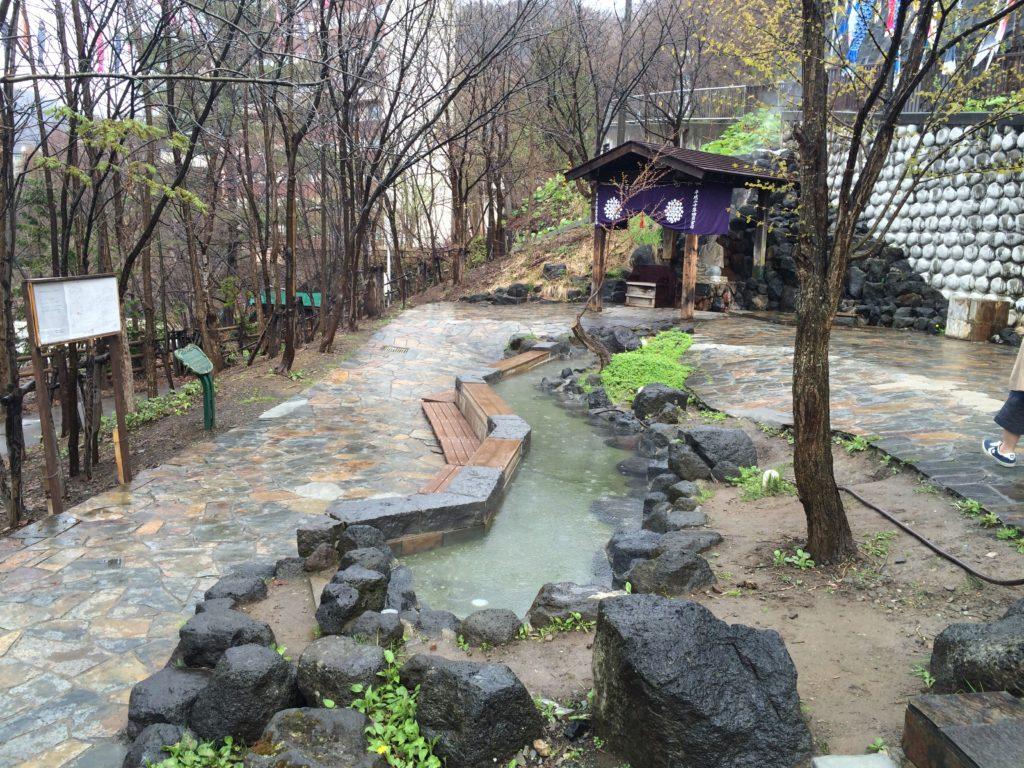 定山渓温泉の足湯