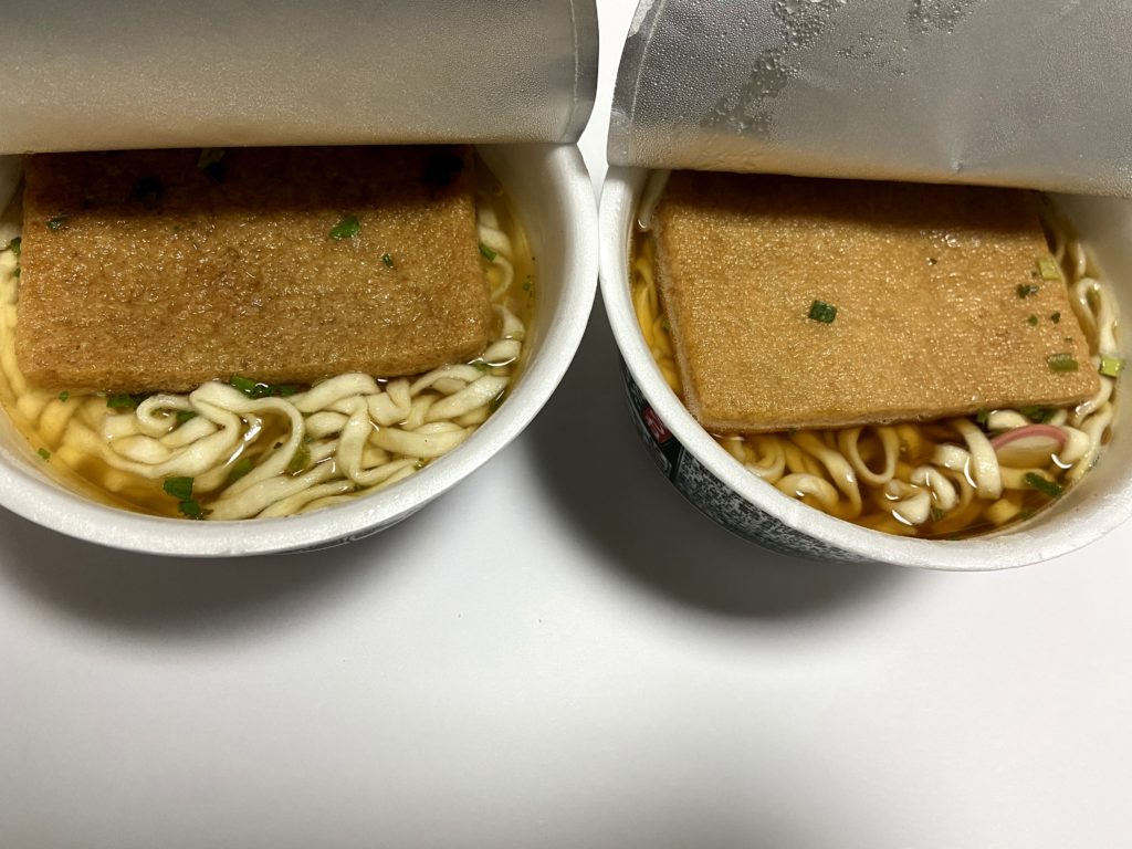 関東のどん兵衛と関西のどん兵衛  スープの違い