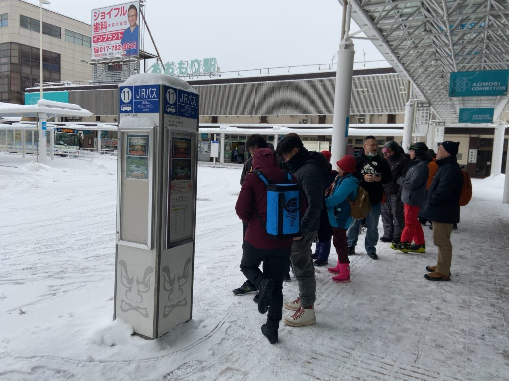 みずうみ号 バス乗り場